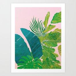 PALMS ON PINK Art Print