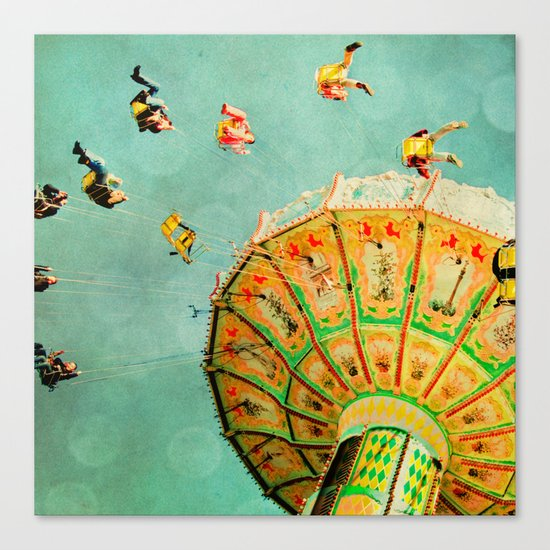 You Spin Me Right Round Carnival Swing Canvas Print