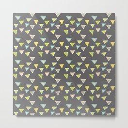 Freshtastic Triangles Illustration Metal Print
