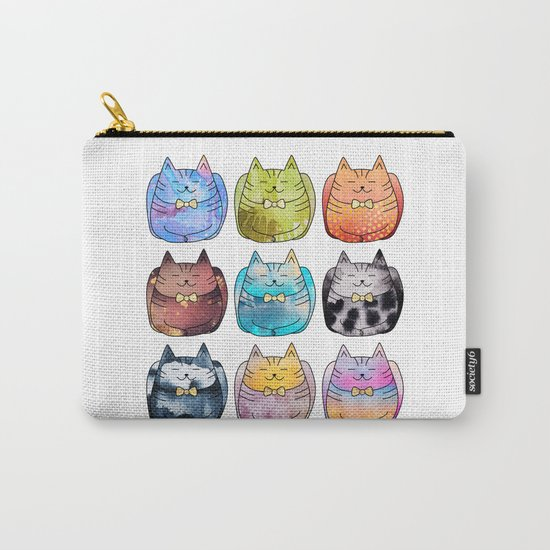 Colorful Cats Carry-All Pouch