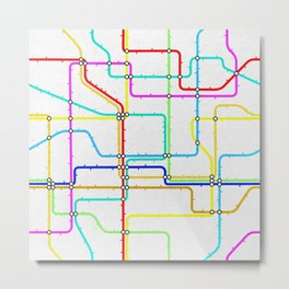 London Tube Underground Metal Print