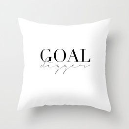 GOAL DIGGER SIGN,Gift For Boss,Like A Boss,Success Quote,Business Women Gift,Printable Art,Modern Ar Throw Pillow