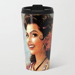Mexican Golden Flamenco Calendar Girl by Jesus Helguera Travel Mug