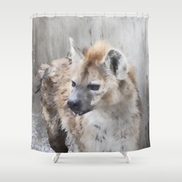 WColor hyena Shower Curtain