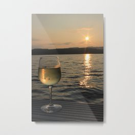 Traminette in the Sunset Metal Print