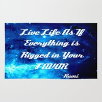 inspirational Area & Throw Rugs featuring Inspirational by 2sweet4words Designs