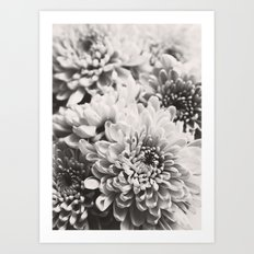 Soft flowers Art Print