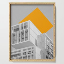 Geometry in Architecture / Yellow Square Serving Tray