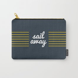Sail Away Nautical Print Carry-All Pouch