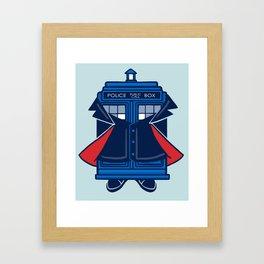 Peter Capaldi Tardis Framed Art Print