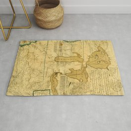 Map Of Great Lakes 1785 Rug