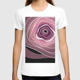 Abstract flower T-shirt