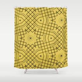 Boom Maze Pattern Shower Curtain