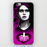 lydia martin iPhone & iPod Skins featuring Black Heart - Lydia by xKxDx