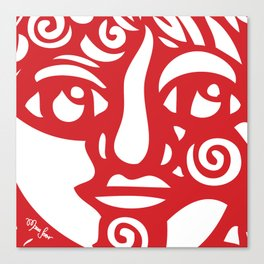 Cara Roja Canvas Print