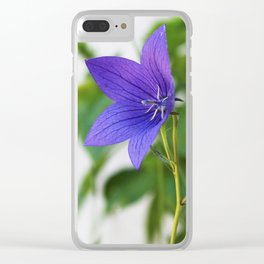 Japanese Bellflower Clear iPhone Case