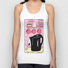 Making Tea: Plug In Your Kettle Unisex Tank Top