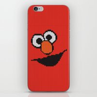 elmo iPhone & iPod Skins featuring Knit Elmo by colli1 3designs