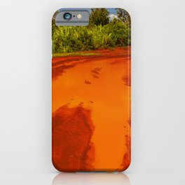 Epic Red Dirt From Tropical Spectacular Kauai, Hawaii iPhone Case