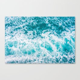 Ocean waves from above Canvas Print