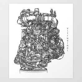 DeLorean Flux Capacitor Art Print