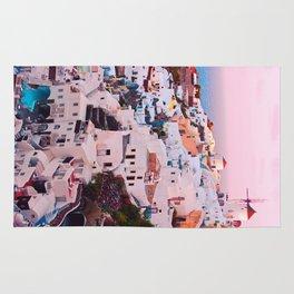 Oia town Santorini Rug