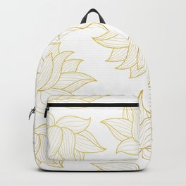 Lotus Pattern Backpack