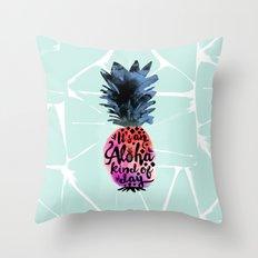 Pineapple Aloha Type Throw Pillow