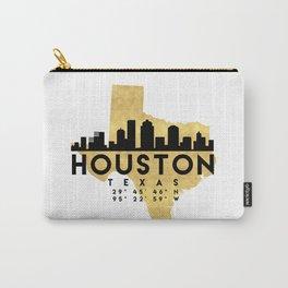 HOUSTON TEXAS SILHOUETTE SKYLINE MAP ART Carry-All Pouch