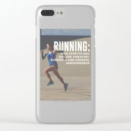 Runners High Running Is Awesome Clear iPhone Case