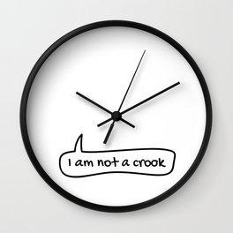 I am not a crook Wall Clock