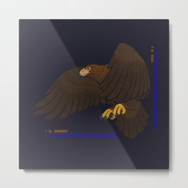 Aquila chrysaetos for wit Metal Print