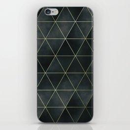 moody triangles 02 // green iPhone Skin