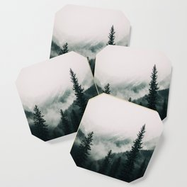 Over the Mountains and trough the Woods -  Forest Nature Photography Coaster