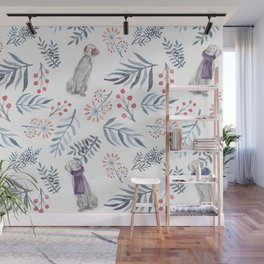 WINTER BERRIES AND WEIMS Wall Mural