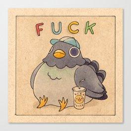 'Fuck' Pigeon 01 Canvas Print