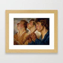 "Jacob Jordaens ""Three Musicians"" Framed Art Print"