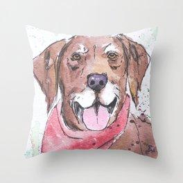 The Gentleman's Dog Throw Pillow