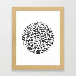 A Circle of Animals Framed Art Print