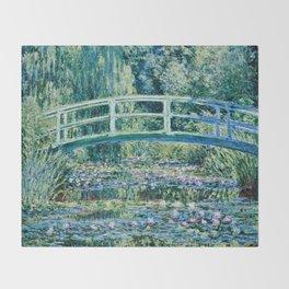 Claude Monet - Water Lilies And Japanese Bridge Throw Blanket