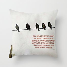 A Bird's Eye View Throw Pillow