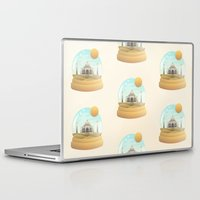 globe Laptop & iPad Skins featuring Sand Globe by Moremo