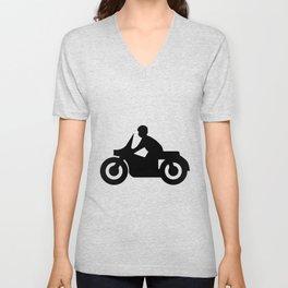 Motorcycle Silhouette Unisex V-Neck