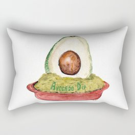 Avocado Dip Rectangular Pillow
