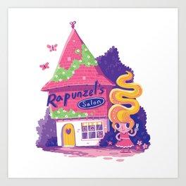 Rapunzel's Hair Salon Art Print