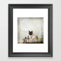Kitty Thoughts Framed Art Print