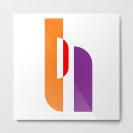 Bauhaus with geometric shapes Metal Print