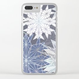 Layered Snowflakes Clear iPhone Case