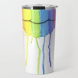 Rainbow Lips Travel Mug