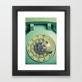 Rotary Telephone Framed Art Print
